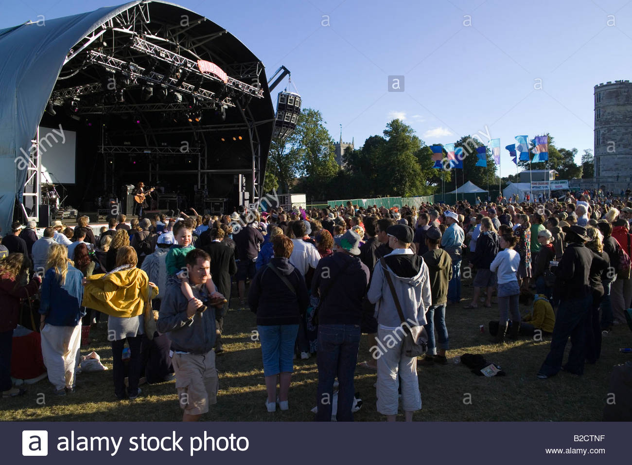 Camp Bestival Music Festival de julio de 2008 Break Lulworth Dorset, Inglaterra Imagen De Stock
