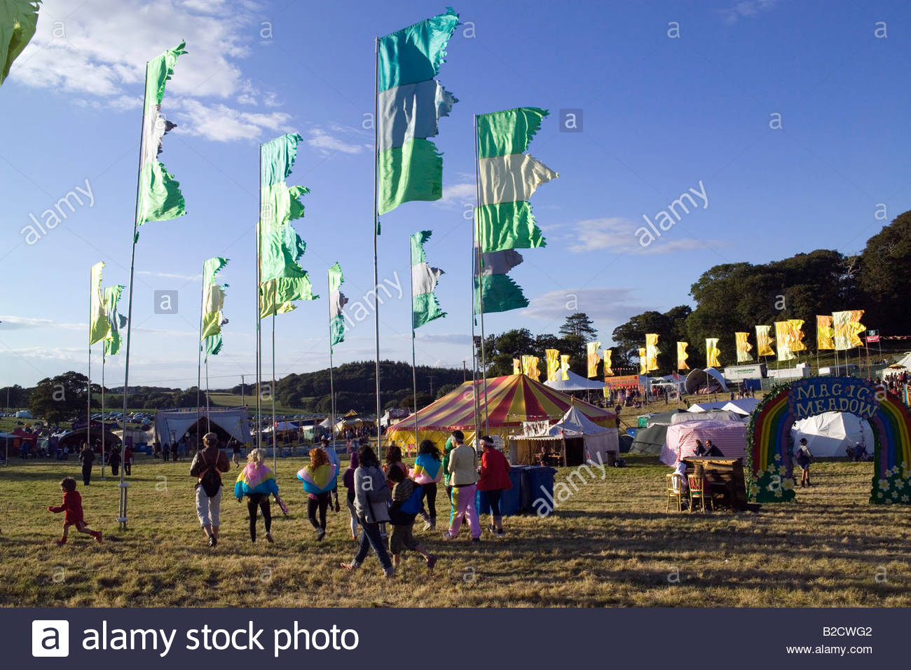 La magia Meadow Camp Bestival Music Festival de julio de 2008 Break Lulworth Dorset, Inglaterra Imagen De Stock