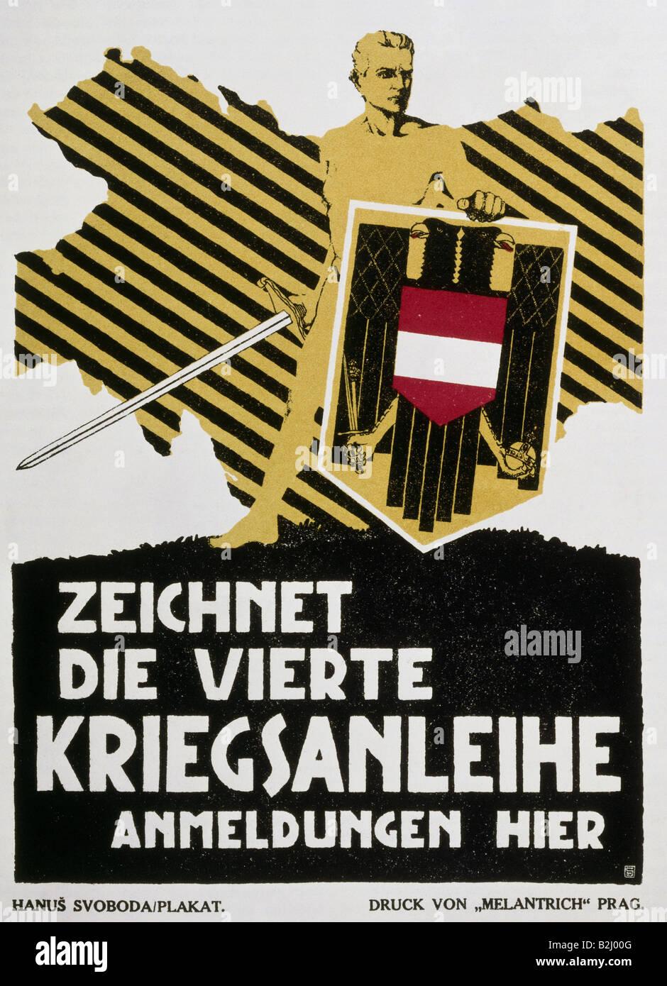 Eventos, Primera Guerra Mundial / WWI, propaganda, póster \