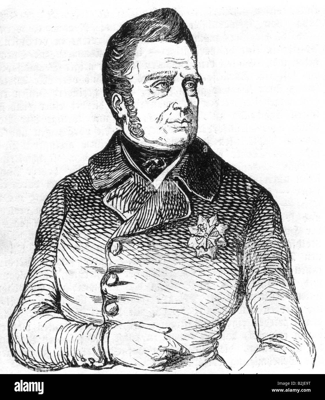 Guillermo I, 24.8.1772 - 12.12.1843, Rey de los Países Bajos 16.3.1814 - 7.10.1840, de longitud media, grabado, Imagen De Stock