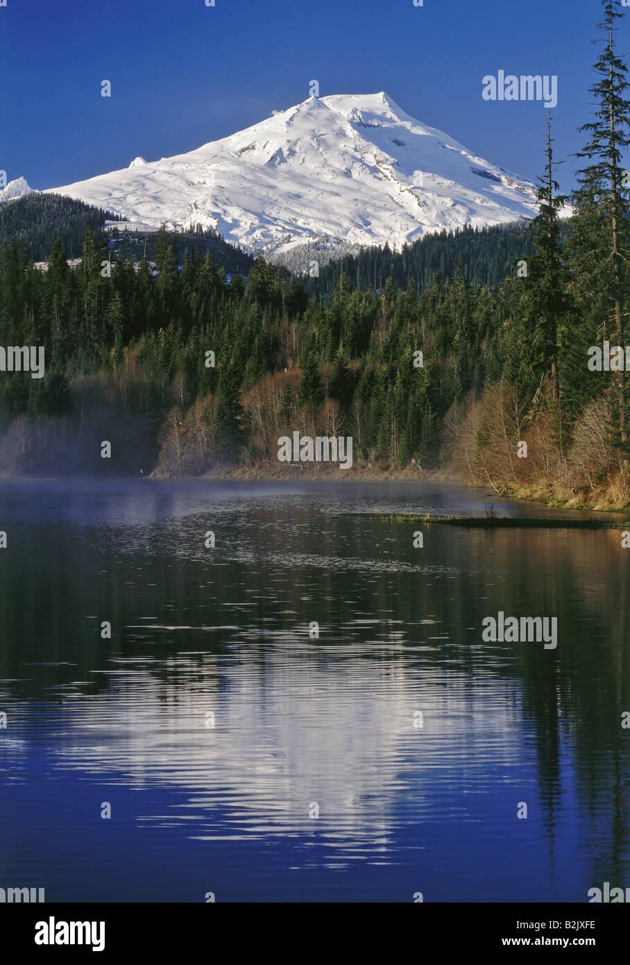 Geografía / viajes, EE.UU., Washington, paisajes, el Monte Baker y Baker Lake, Additional-Rights-Clearance Imagen De Stock