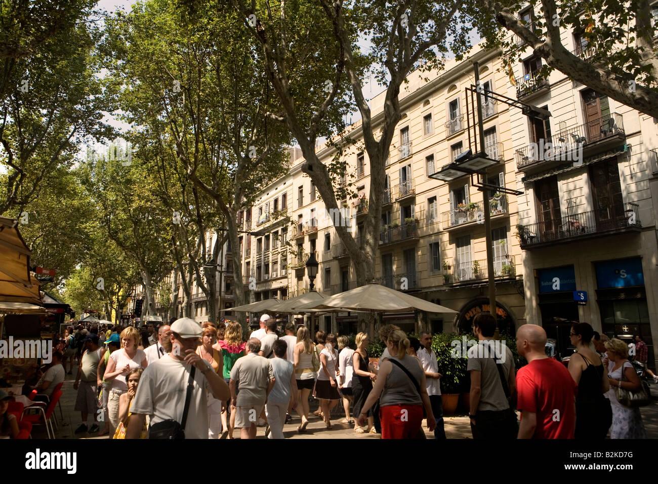 La Rambla de Barcelona, Cataluña, España Imagen De Stock