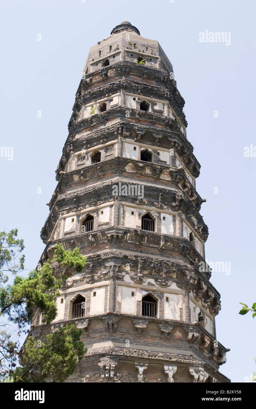 China, Suzhou Yunyan Pagoda, la Colina del Tigre Imagen De Stock