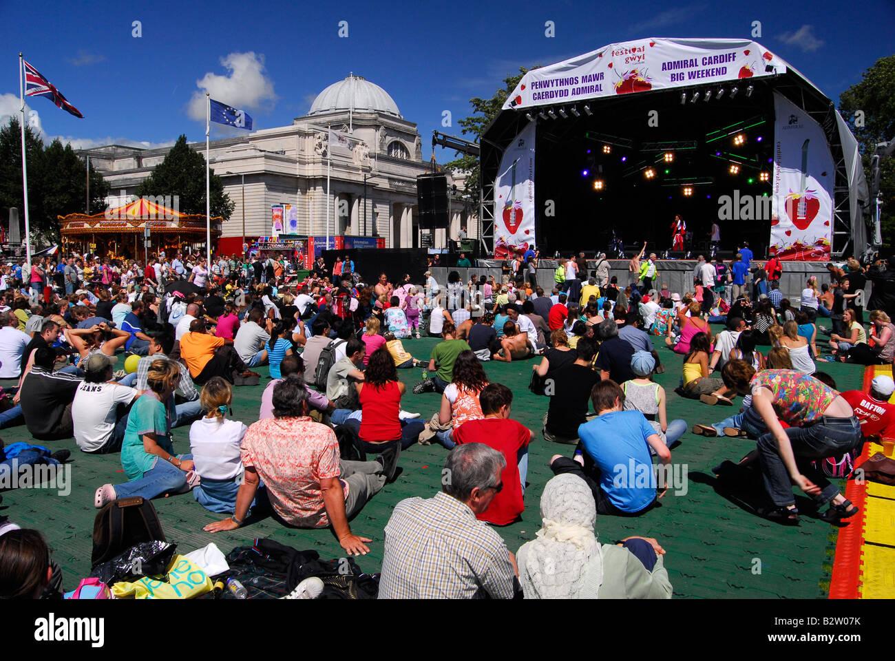 Cardiff Big Weekend Festival de música y diversión nocturna Imagen De Stock