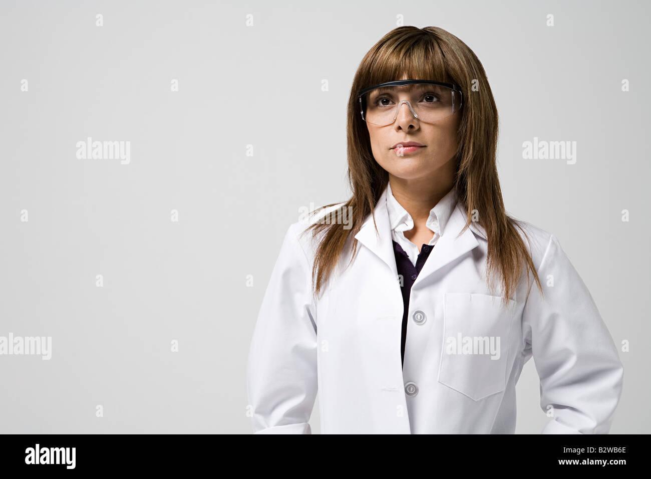 Retrato de un científico Foto de stock