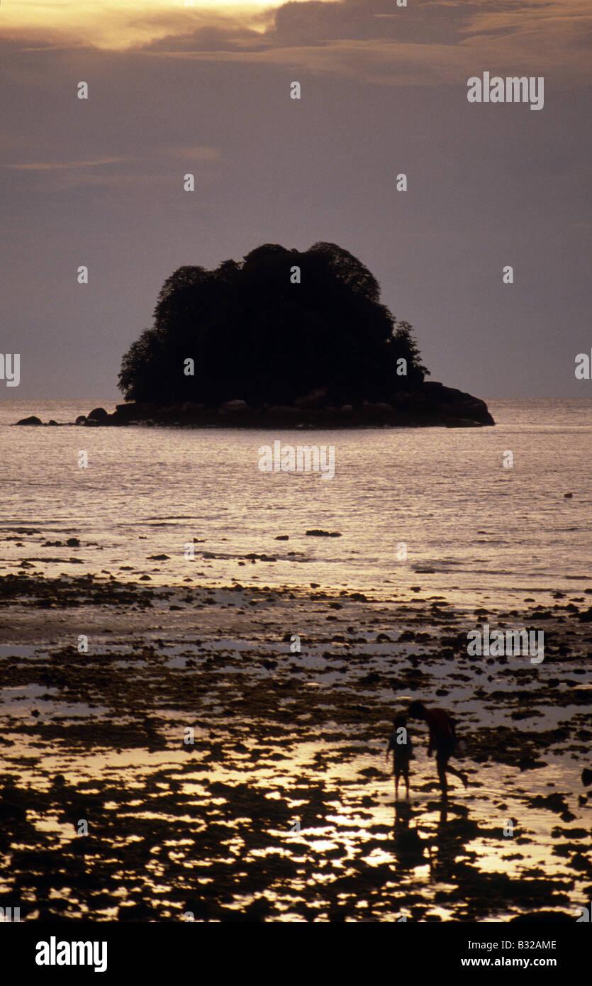 La costa oriental de Malasia Peninsular, ahora llamado Berjaya Tioman Island Resort Imperial Resort en la isla, Foto de stock