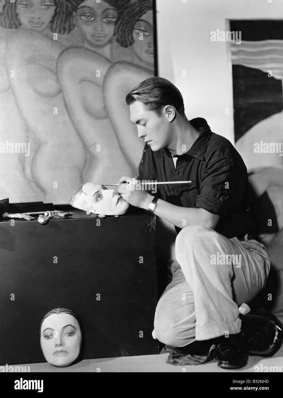 Hombre máscaras de pintura Imagen De Stock