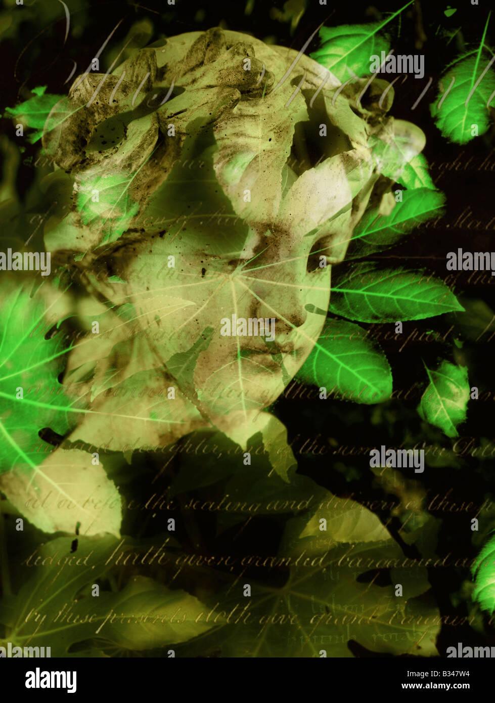 Estatua del jardín. Sólo para uso editorial Imagen De Stock