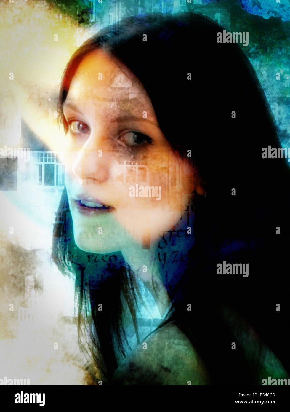 Mujer joven. Imagen De Stock