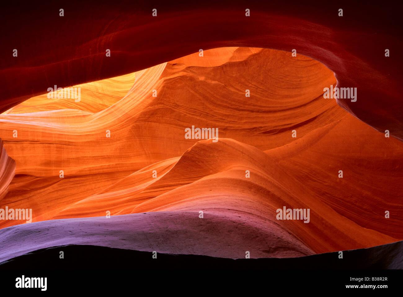 Patrones abstractos en Lower Antelope Canyon Page Arizona Foto de stock