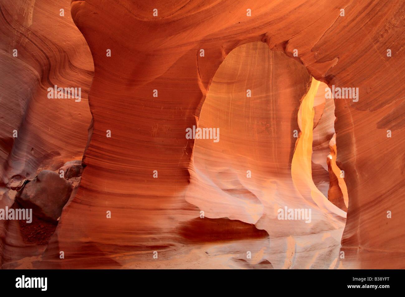 Arch en el Cañón Antelope Inferior Page Arizona Foto de stock