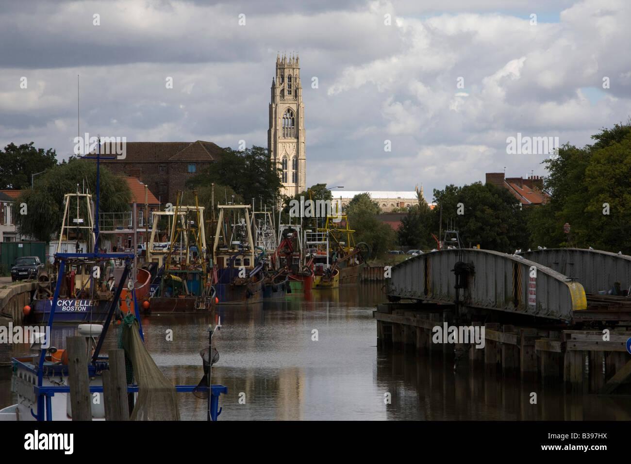 El Haven boston riverside barcos Inglaterra Lincolnshire Imagen De Stock