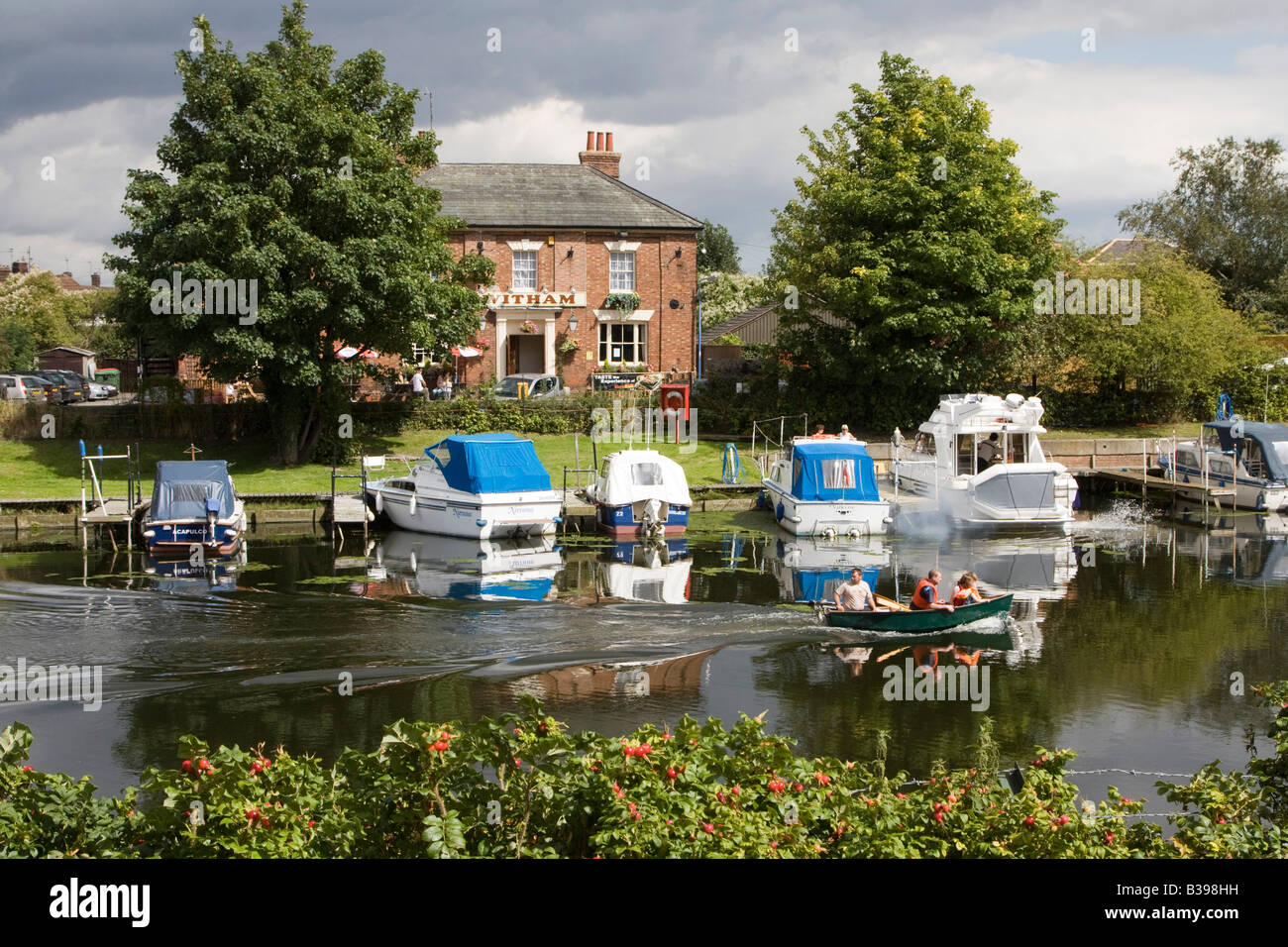 Río Witham boston lincolnshire inglaterra gb Imagen De Stock