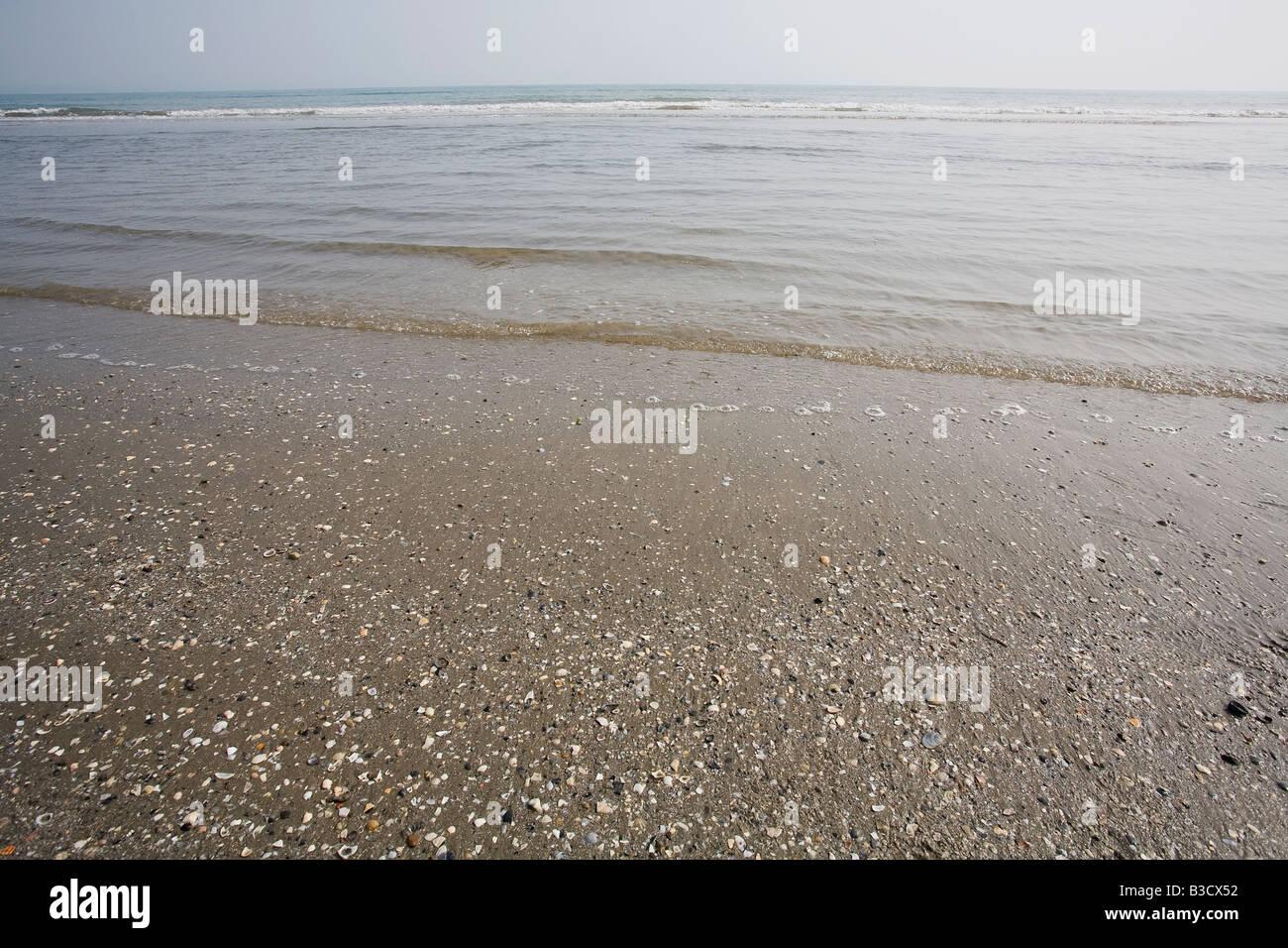 Seascape contra sky Foto de stock