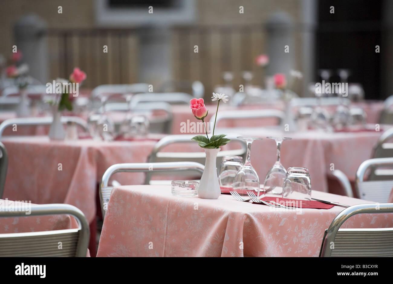 Lugar en el restaurante Foto de stock