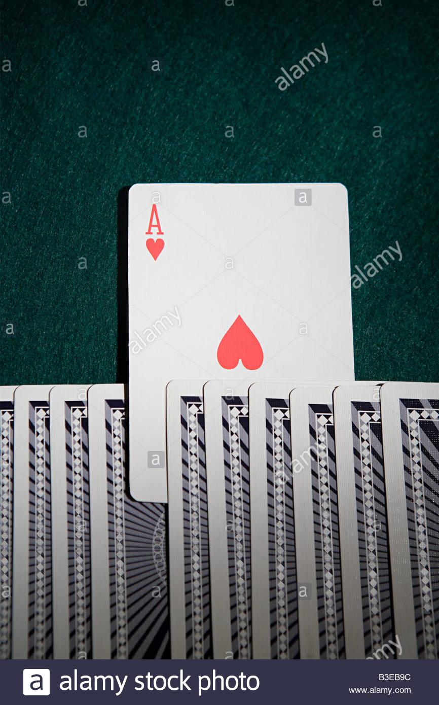 Ace en una baraja de cartas Foto de stock