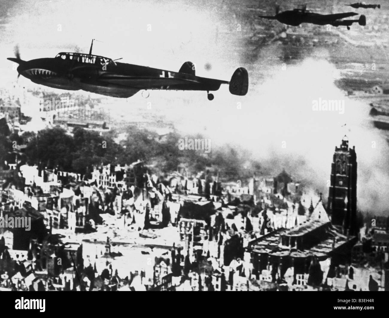 Guerra Mundial II/bombas/Dunkerque. Foto de stock