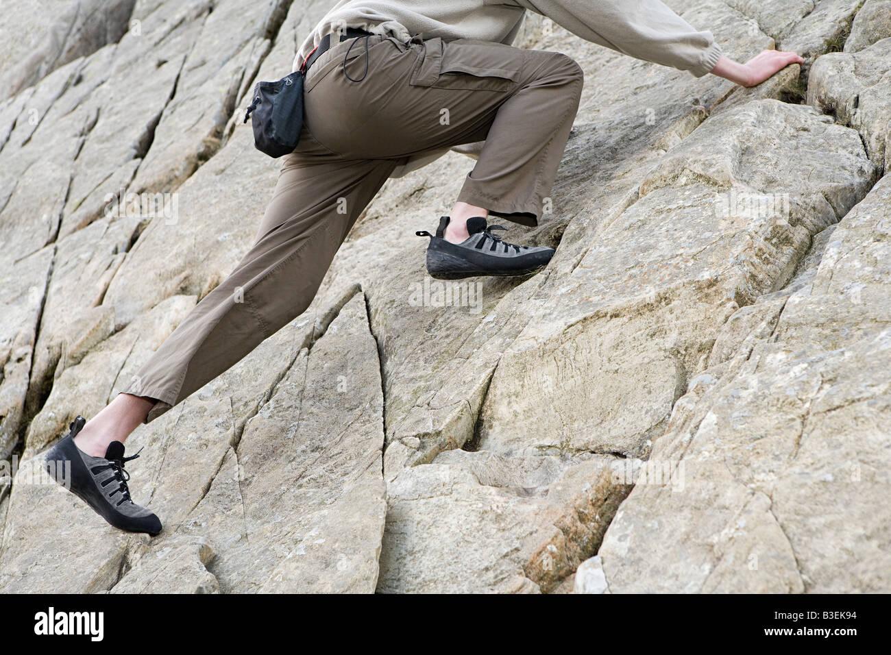 Una persona escalada Imagen De Stock