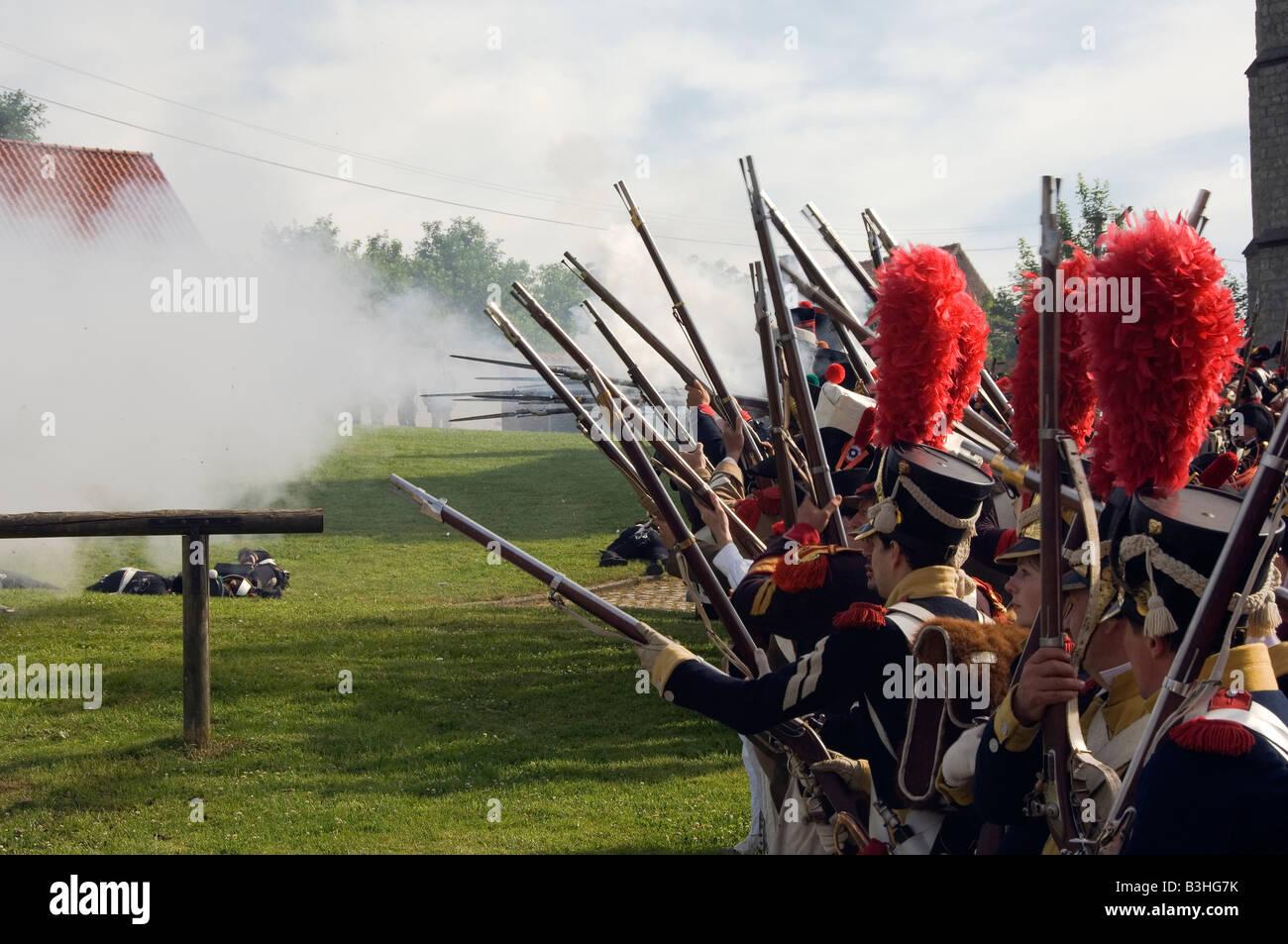 Batalla de Waterloo Imagen De Stock