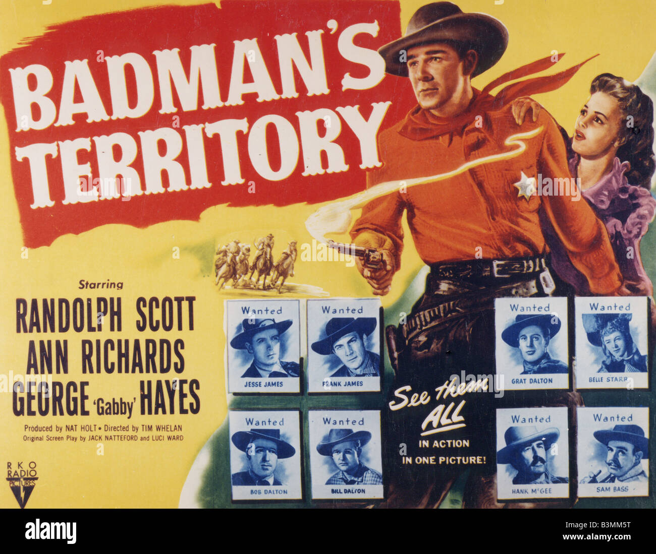 el territorio de badman cartel para 1946 rko film con randolph scott
