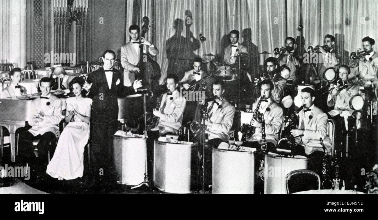 DEL COURTNEY ORQUESTA big band estadounidense de los 30s y 40s Imagen De Stock