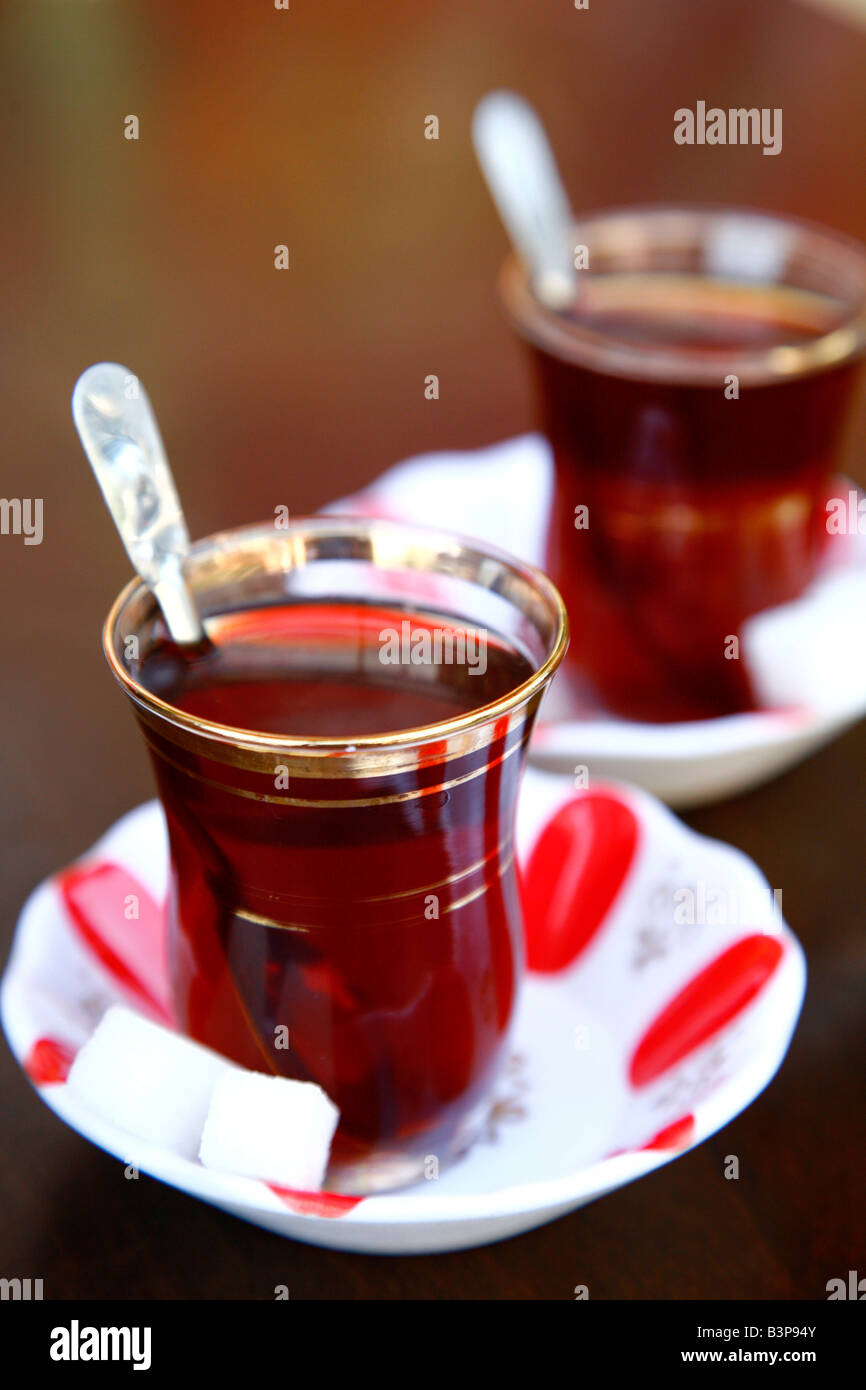 Mayo 2008 - té turco Estambul Turquia Imagen De Stock