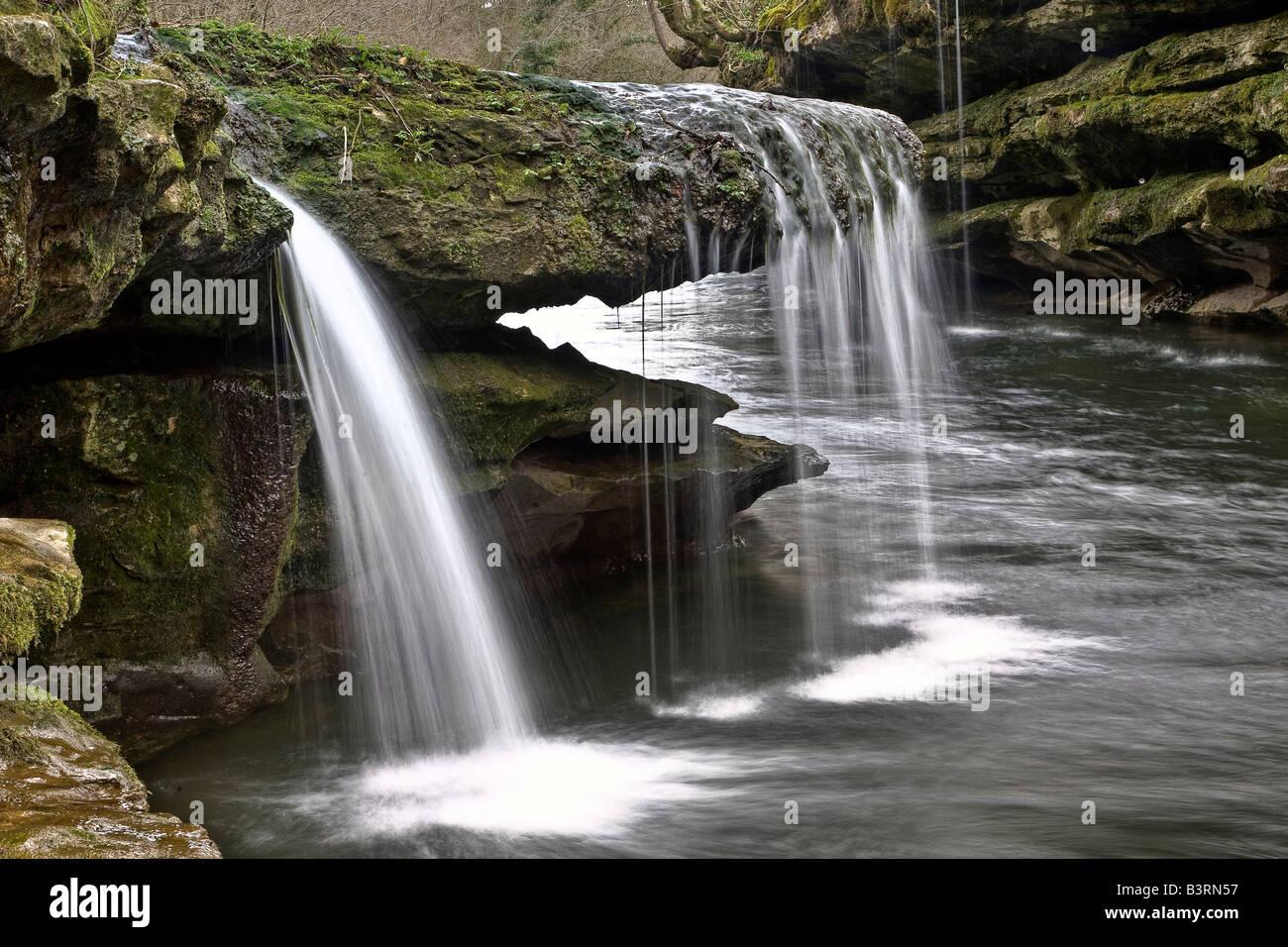 Río Kents Barranco rocoso Imagen De Stock
