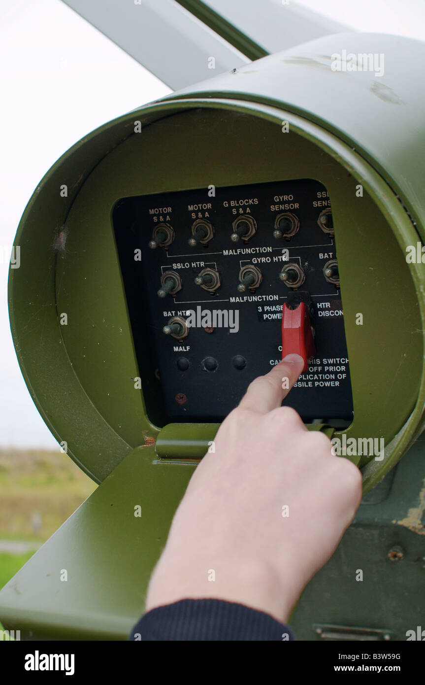 Armar un halcón norteamericano de rango medio de misiles superficie-aire. Visto en el Museo de la guerra fría Imagen De Stock