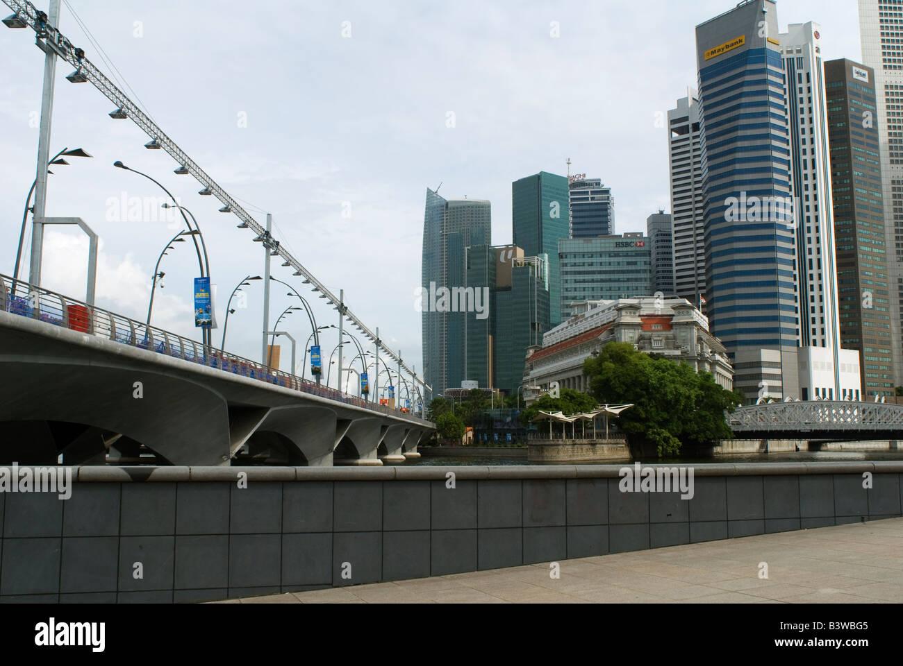 Circuito F1 Singapur : Esplanade drive puente parte del circuito de f de singapur es