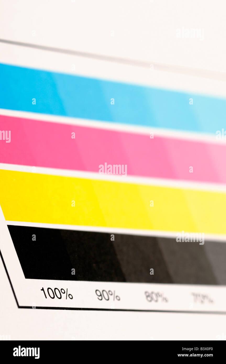 Muestra de color CMYK Imagen De Stock