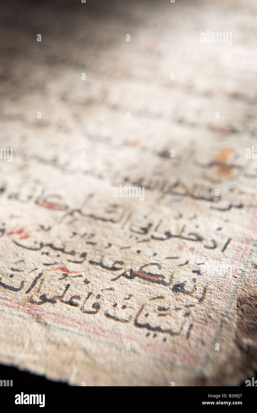 Primer plano de la escritura árabe Imagen De Stock