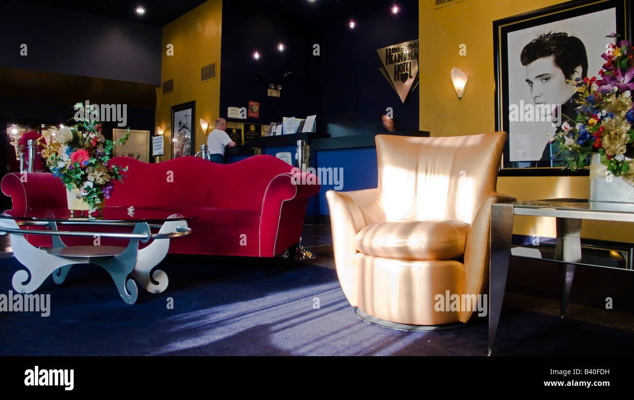 Muebles De Estilo A Os Cincuenta Y Elvis Retrato En Recepci N  # Muebles Memphis