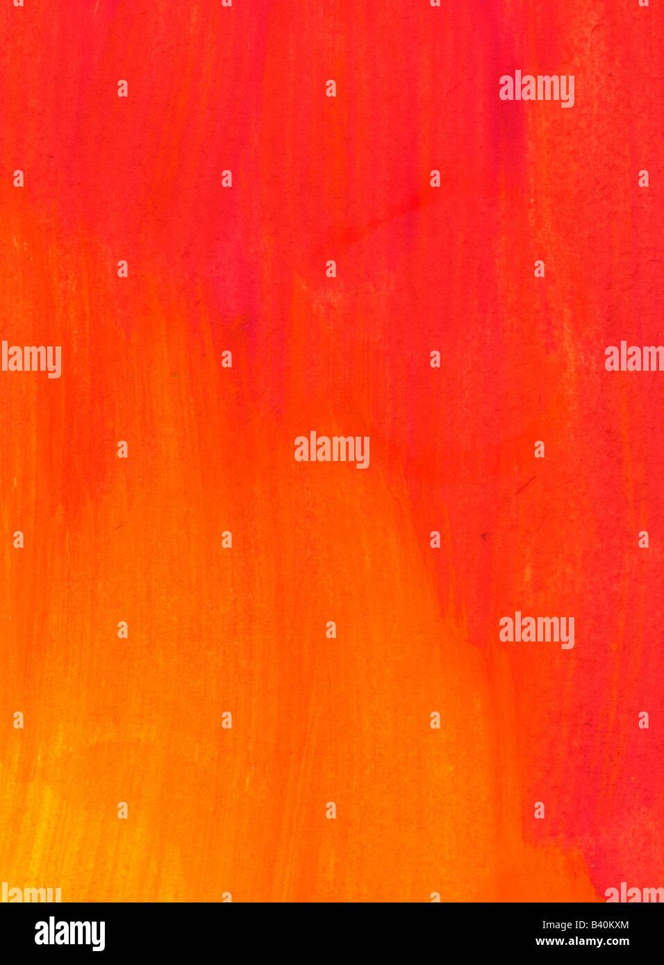 Rojo y naranja lavar acuarela antecedentes Imagen De Stock