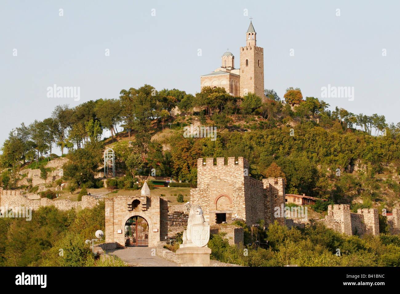 La Fortaleza de Tsarevets en Veliko Tarnovo, antigua capital de Bulgaria Foto de stock