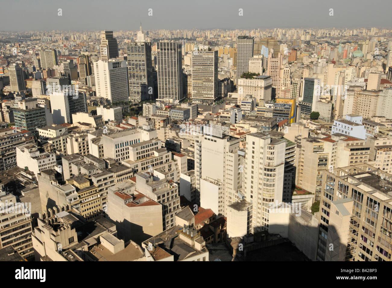 Sao Paulo Vista Desde La Terraza De La Azotea Del Edificio