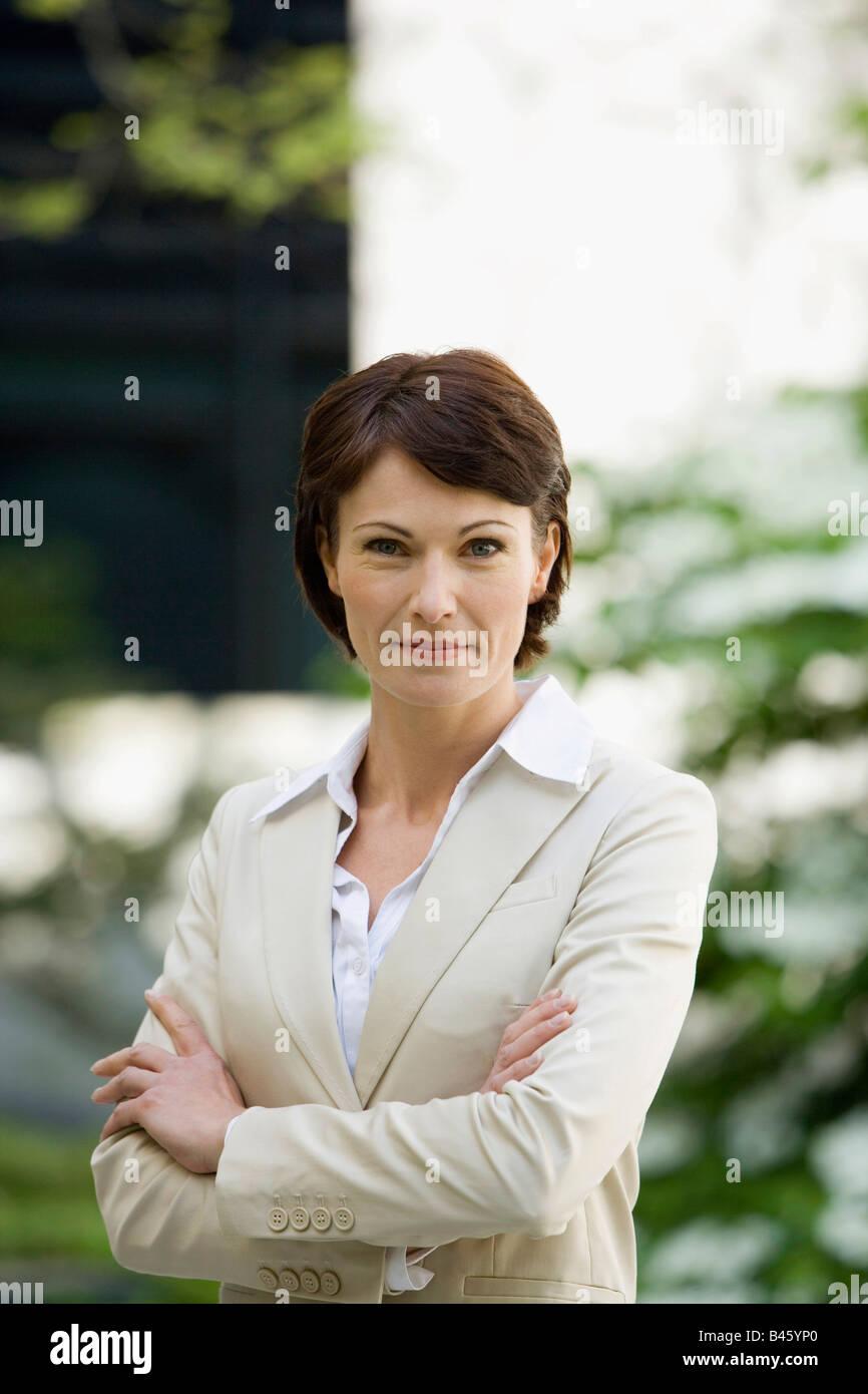 Alemania, Baden Württemberg, Stuttgart, mujer de negocios, Retrato Imagen De Stock