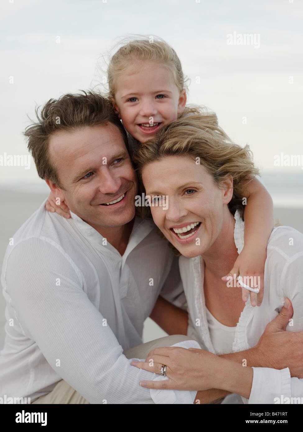 Familia feliz Foto de stock