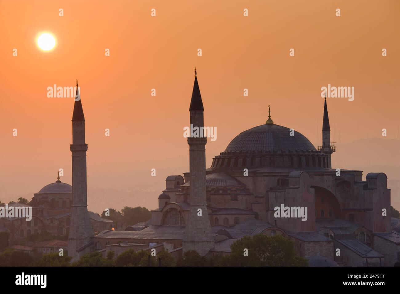 Turquia Estambul vista de la mezquita de Hagia Sofía. Imagen De Stock