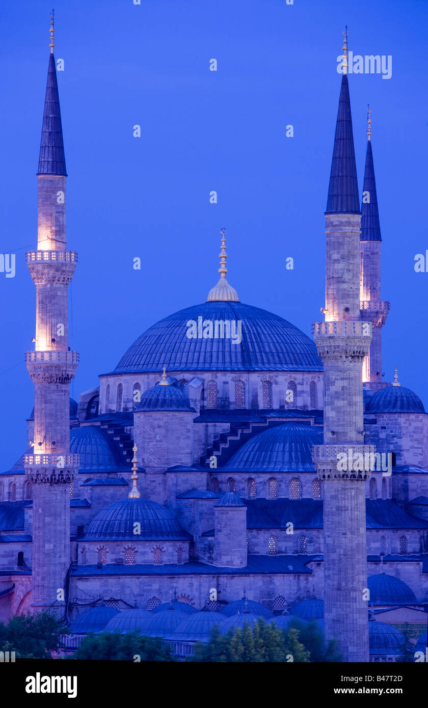 Mezquita del Sultan Ahmed Mezquita Azul de Estambul TURQUÍA Imagen De Stock