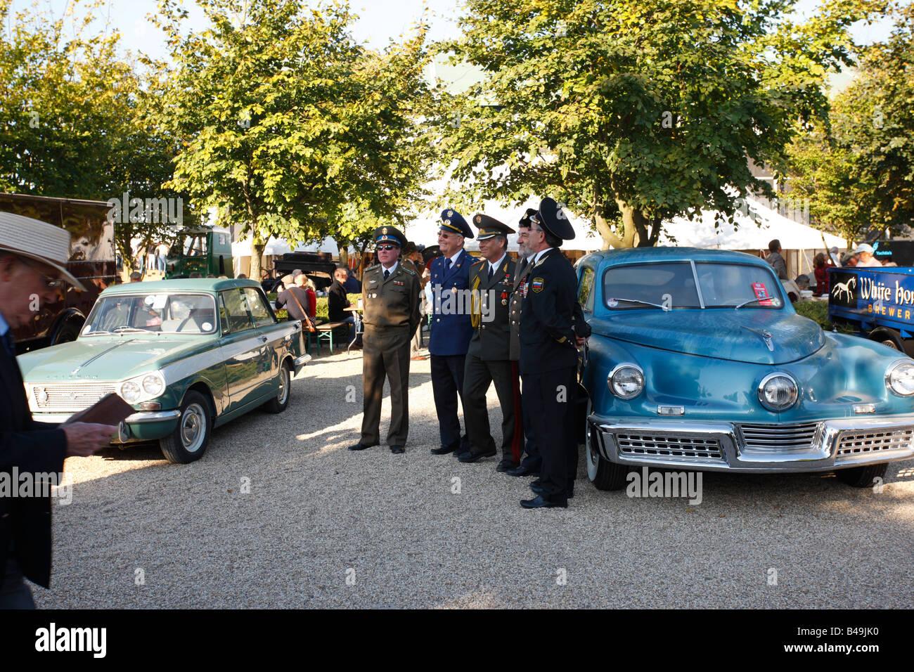 Asistencia militar de la guerra fría en Goodwood Revival 2008 Imagen De Stock