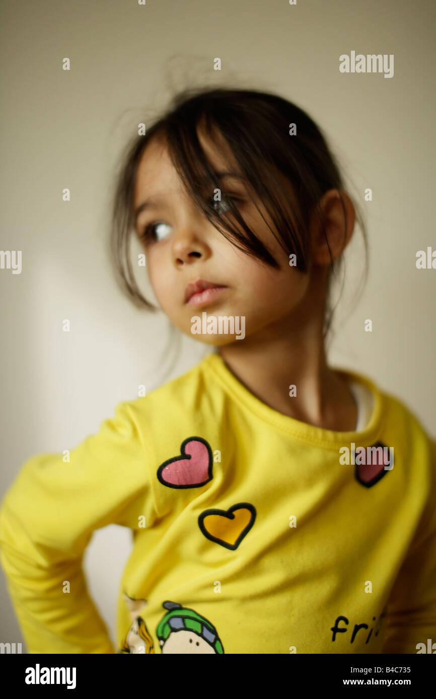 Cinco años de edad, niña Imagen De Stock