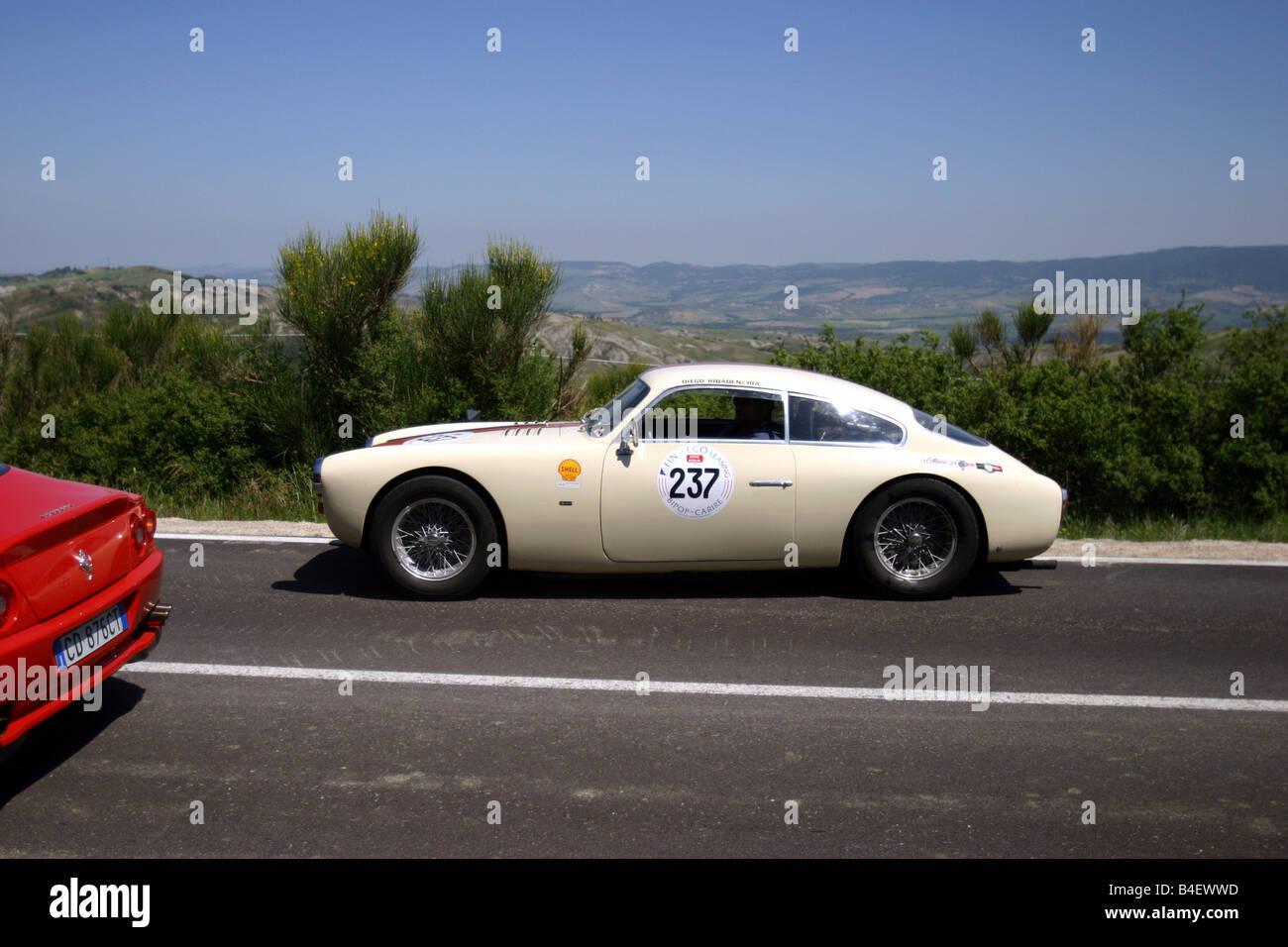 Coche, eventos, evento, vintage car-Rallye, Mille Miglia 2003, paisaje, entorno Imagen De Stock
