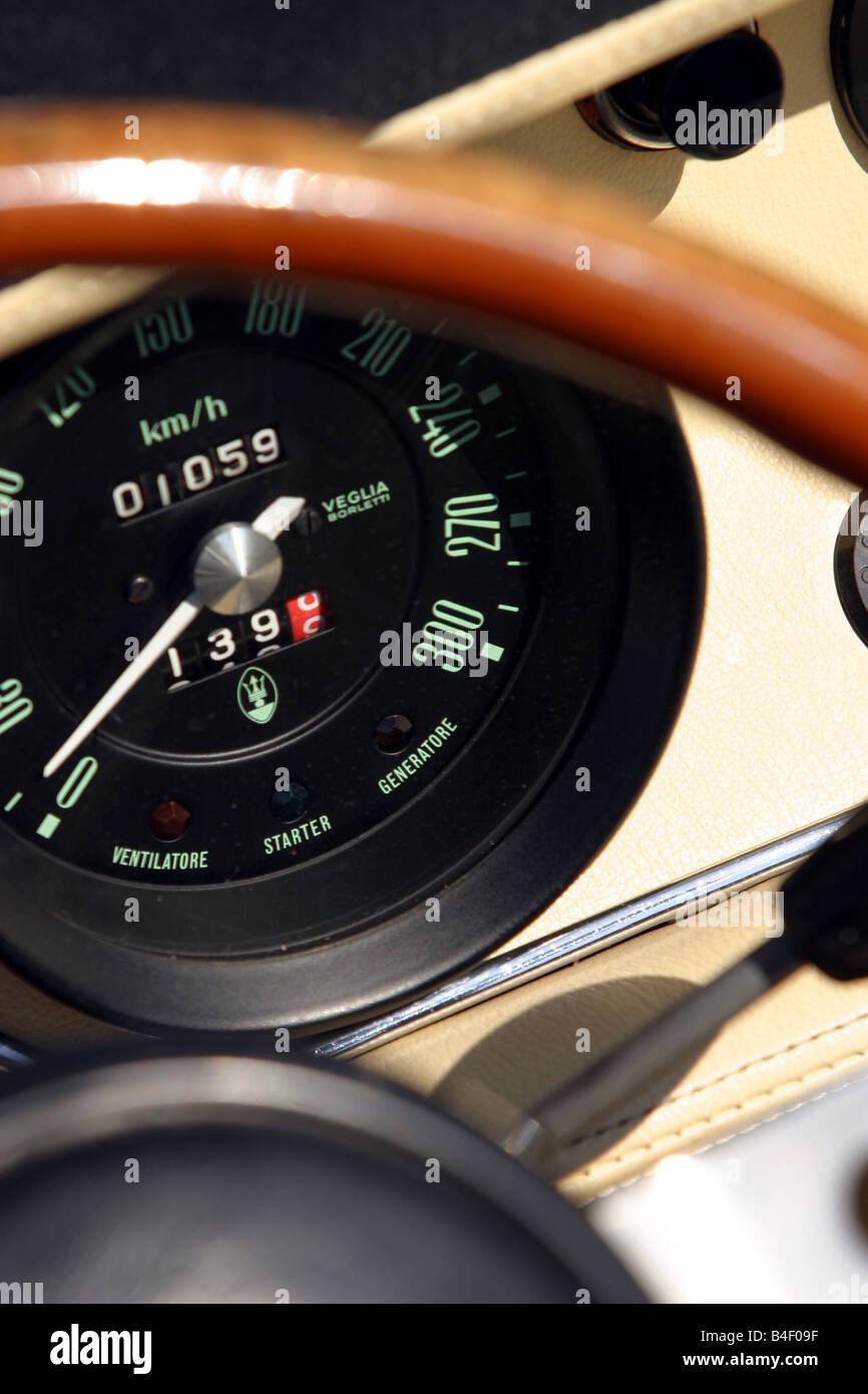 Coche, Maserati Ghibli SS, coches antiguos, modelo para el año 1967-1973, 1970, 1970, 1960, 1960, viejo coche, Imagen De Stock