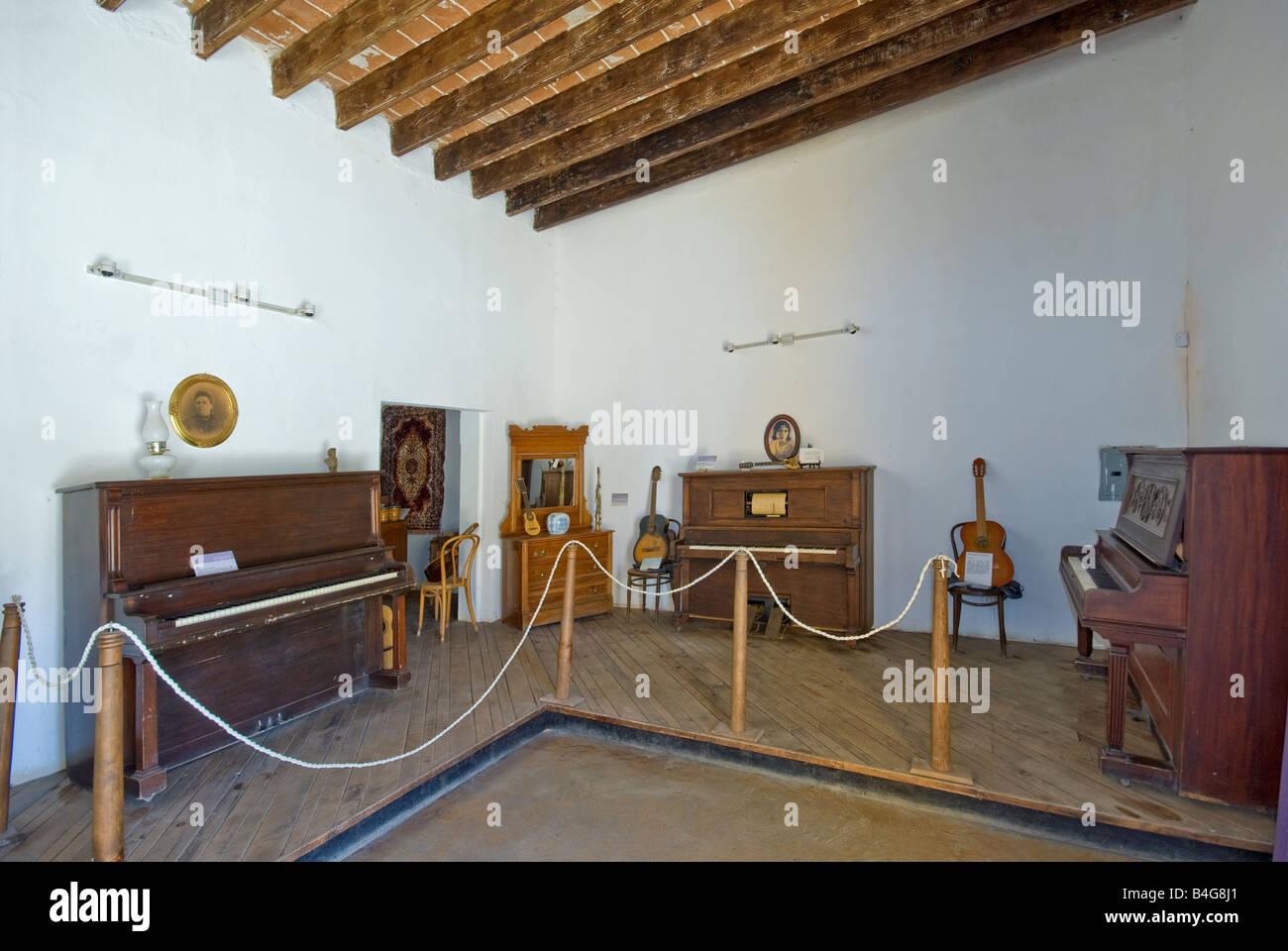 Museo de la Musica en El Triunfo en la Sierra de la laguna en el centro de Cape Baja California Sur México Imagen De Stock