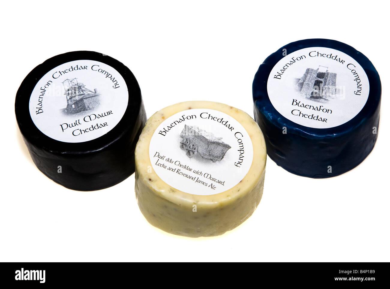 Especialista en quesos madurados Blaenavon galés del subterráneo en Gran Hoyo Gales UK Imagen De Stock