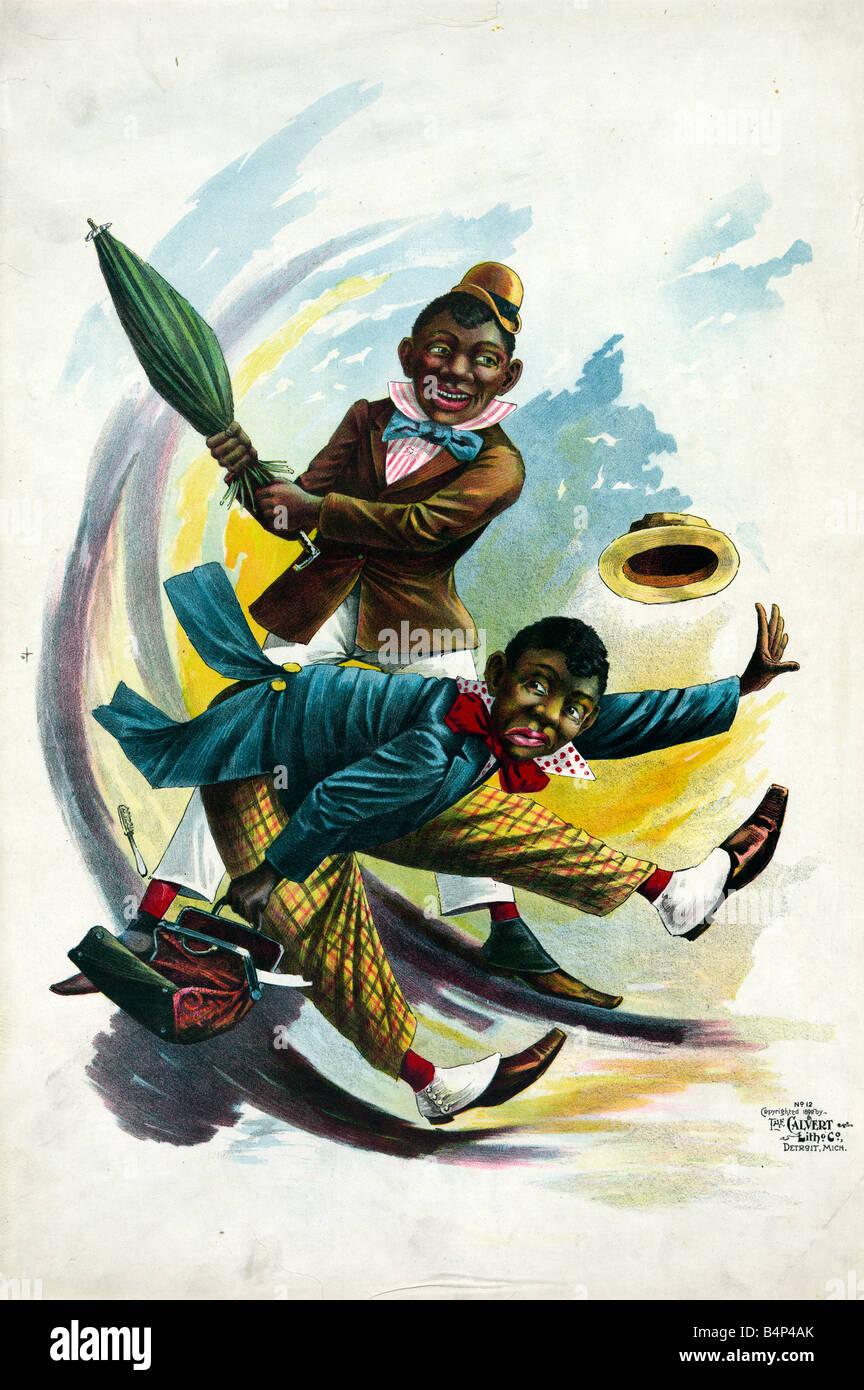 Dibujos animados de 1890 Imagen De Stock