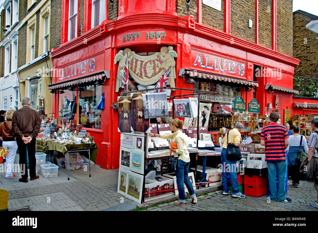 Mercado de antigüedades de Portobello Road de Londres Notting Hill. Foto de stock