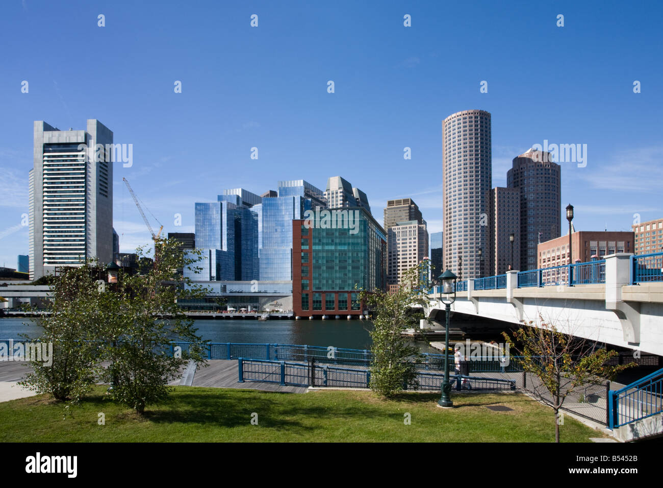 Horizonte de Boston Massachusetts Imagen De Stock