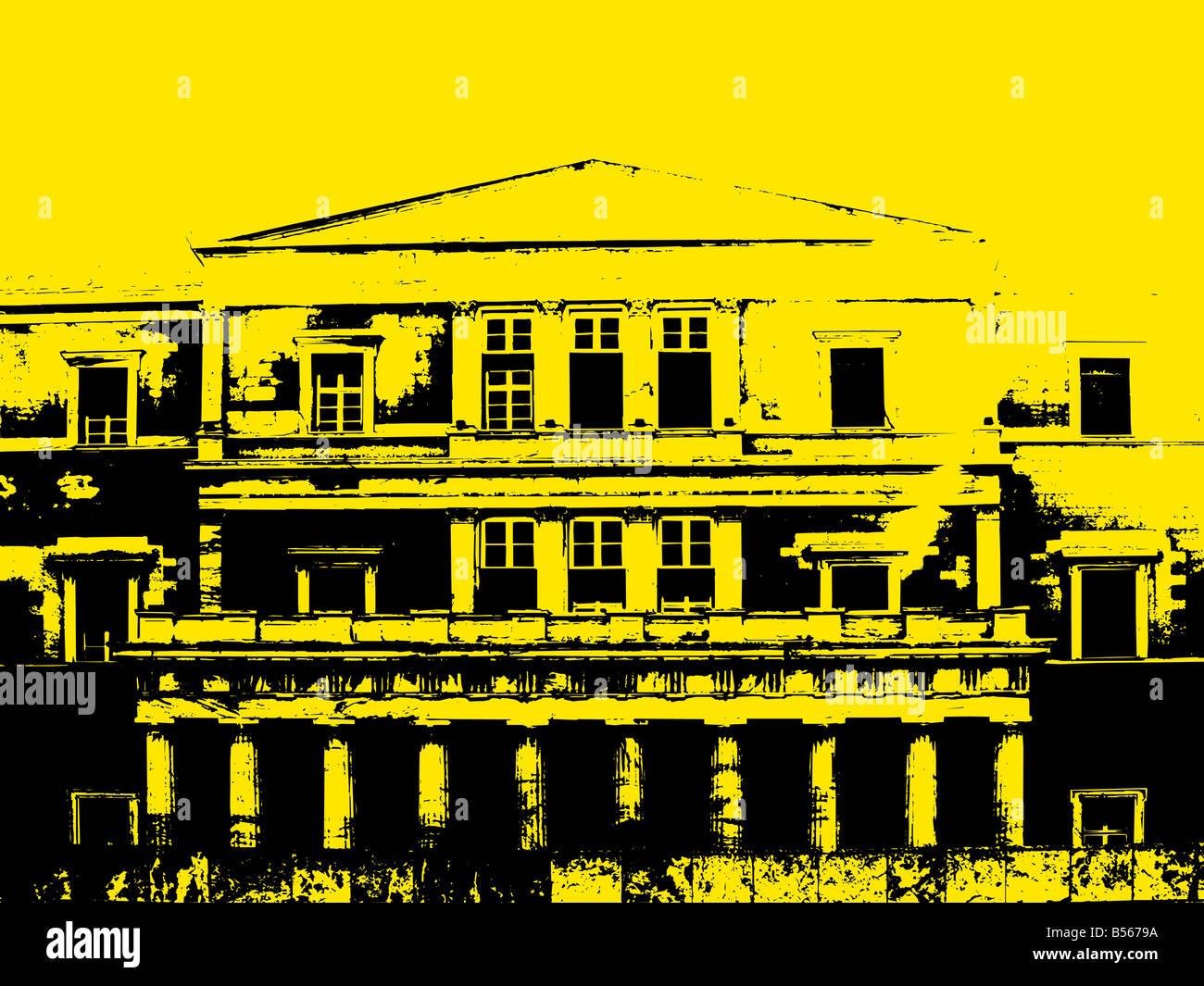 Edificio Grunge antecedentes Imagen De Stock