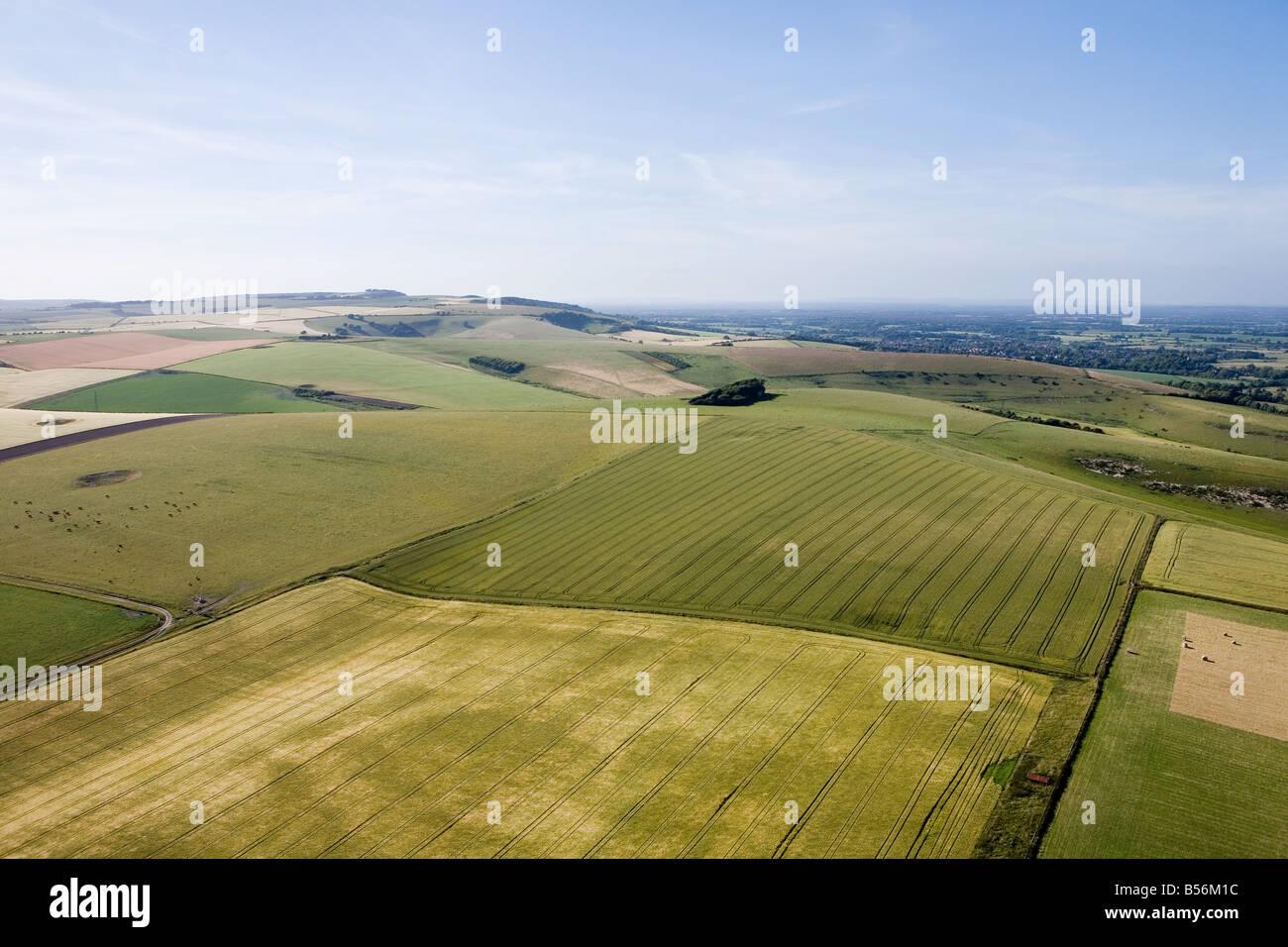Vista aérea de sussex campos Foto de stock